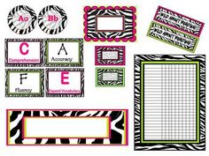 I put together many of my zebra themed items in this downloadable package.This document contains:1. One page of fancy zebra/hot pink/lime fre...