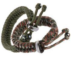 Premium Fish Tail 350 lb Paracord Survival Bracelets With Metal Clasp