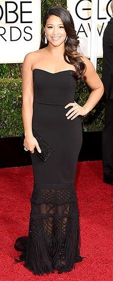 Gina Rodriguez: 2015 Golden Globes #HauteCouture #RedCarpet
