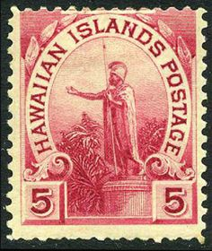 Hawaii Old Stamps Vintage Statue Mint Hawaiian Islands Stamp Collecting
