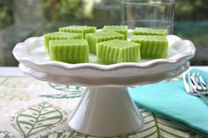 Pandan Jelly- I had something like this at an asian festival and always wondered what it was!  Going to have to see if I can find the ingredients here.