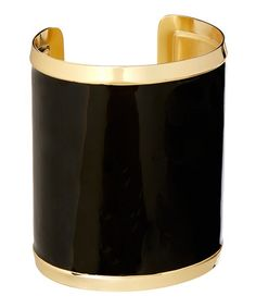 Look what I found on #zulily! Black & Gold Trim Cuff #zulilyfinds