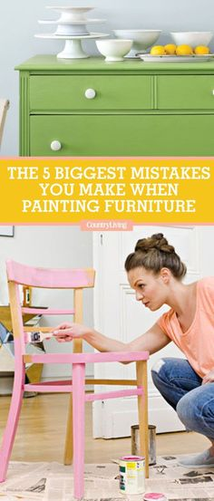How to Paint Furniture - Biggest Painting Mistakes