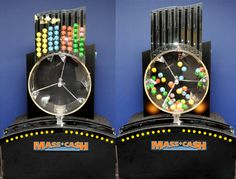 The lotto ball machine represents the randomness and disorder of life, and our lead's effort to maintain order - through OCD habits and through predicting the outcome - as a way to find peace and  security in his own life.