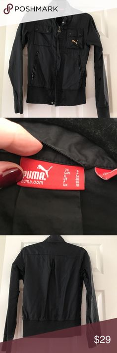 Puma windbreaker jacket Water resistant. Great for cooler weather. Can layer with it. Great condition.                                                                        Tags: adidas, Nike, Patagonia, sport Puma Jackets & Coats