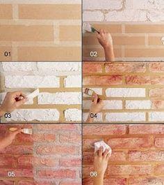 A bit of everything: Fake brick demolition