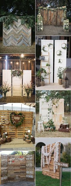 chic rustic wooden wedding photobooth backdrop ideas for 2018 #weddingdecor #weddingideas #weddingphotos #weddingbackdrops #weddinginspiration