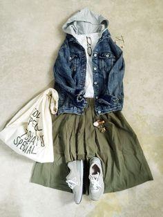 Green skirt...should had gotten