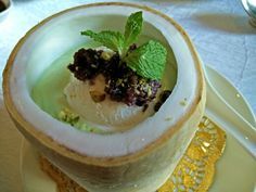 Avocado coconut icecream with red bean and crushed pistachio @ Celestial Court, Sheraton Imperial KL #rosalynrawrs #KL #Malaysia #Starwood