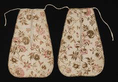 Pocket (Double pocket) Category: Textiles (Clothing)  Place of Origin: England, United Kingdom, Europe  Date: 1735-1745  Materials: Cotton; Linen  Techniques: Block printed, Woven (plain)  Museum Object Number: 1969.3102