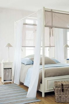 Coastal Beach Home Decor  ~ Bedroom, blue and neutrals