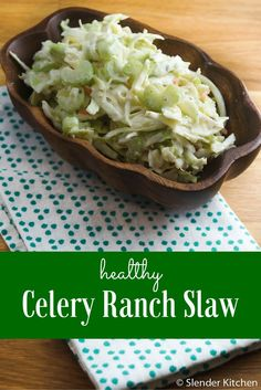 Celery Ranch Slaw - Slender Kitchen