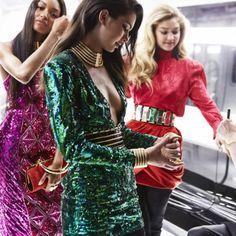 BTS pics  from Balmain's H&M Campaign photo shoot  #Kendalljenner  #GigiHadid  #JourdanDunn