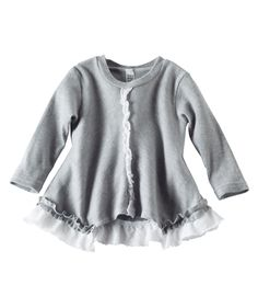 Fun fall fashion with sweet ruffles to boot, this adorable a-line cut 100% cotton play top is the perfect piece for anything the day may have in store. Pair this sweet top with some simple comfy cotton leggings and she'll be set to go. Available online from Hallmark Baby.