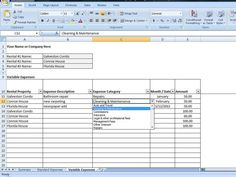 Landlords Spreadsheet Template Rent And Expenses Spreadsheet