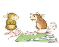 """Mudpie and Maxwell featured on The Daily Squeek® for April 21st, 2015. Click on the image to see it on a bunch of really """"Mice"""" products."""