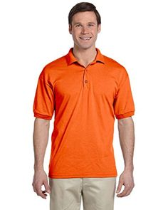 Gildan G880 DryBlend 6 oz 50/50 Jersey Polo - ORANGE - XL - http://www.darrenblogs.com/2016/11/gildan-g880-dryblend-6-oz-5050-jersey-polo-orange-xl/
