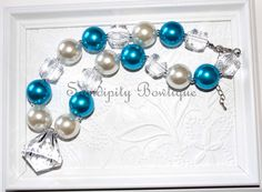 Turquoise Chunky Bubblegum Bead Necklace by SamdipityBowtique, $21.95