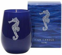Seaspray Scent Jeweled Seahorse Candle | 55DowningStreet.com