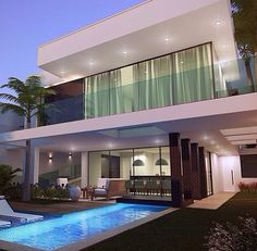 New house modern style garage ideas Home Modern, Modern House Design, Home Design, Design Ideas, Modern Architects, House Goals, Exterior Design, Future House, Home Fashion