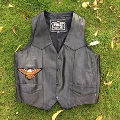 Vintage Genuine Leather Harley-Davidson Vest  In great condition. First Jackets & Coats Vests