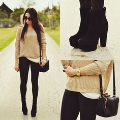 Pretty simple outfit in neutrals, anybody can pull it off..