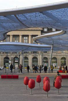 Bus Station Canopy in Aarau, Switzerland by Vehovar & Jauslin Architektur