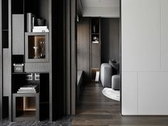 Love the idea of light behind the shelves Shelf Design, Cabinet Design, Interior Walls, Interior And Exterior, Living Tv, Built In Cabinets, Contemporary Interior, Interior Design Inspiration, Interior Architecture