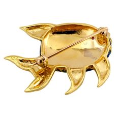 Rare Cartier New York Animalia Series Peacock Enamel Gold Angel Fish Brooch | From a unique collection of vintage brooches at www.1stdibs.com/... photo 3/4