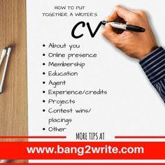 How To Put Together A Writer's CV / Resumé