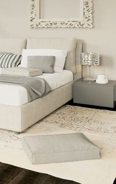 Luxury details... Grey and white! #LaCasaModerna #Beds #SweetDreams ● lacasamoderna.com