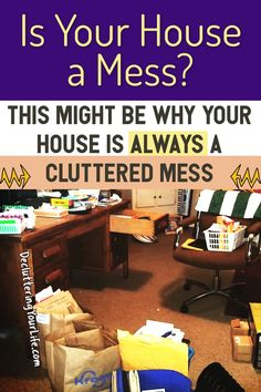"""It happens to everyone at one point or another – we look around our home and think, """"Man, I have a LOT of CRAP! It's CLUTTER – and odds are good that all that clutter is … Clutter Organization, Home Organization Hacks, Organizing Ideas, Organising Tips, Bedroom Organization, House Cleaning Tips, Cleaning Hacks, Hacks Diy, Cleaning Schedules"""