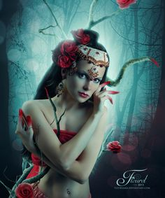 The Red Rose by Pristy