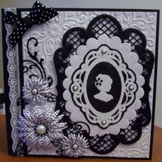 Cameo lady by Solange - Cards and Paper Crafts at Splitcoaststampers