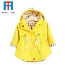 Мода весна осень куртки для девочек мило точка свободного покроя девушки толстовки дети куртка детей и пиджаки casacos infantil 2-6age(China (Mainland))