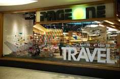Travel! window display by Billy Cheng, via Behance