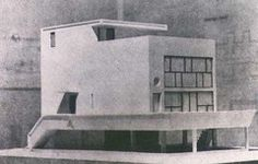 Le Corbusier, France, Maison Citrohan Project, 1920. Vers une architecture 1923: reaction to postwar society, engineers aesthetic, house a machine.