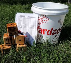 Take your family game night to the next level with a giant, outdoor version of the classic games, Yahtzee and Farkle. Perfect for wedding receptions, camping, cookouts, family reunions, and birthday parties. Lawn games are a great way to get everyone outside enjoying good company and fresh air. Included with your purchase are the following items: *5 wood dice for Yardzee/6if you choose to add Farkle *Laminated scorecards and instructions for both Yahtzee and/or Farkle *Dry erase marker…
