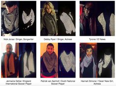 The product has taken the celeb world by storm, with everyone from Hollywood actors to football superstars being spotted wearing the scarf in public.