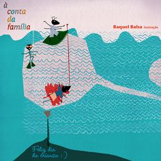 """livro """"À conta da família""""  [On Account of Family] by raquel balsa, via Behance"""