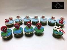 """Welcome Home"" travel themed cupcakes #travel"