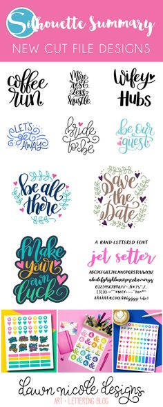 Silhouette Summary: June's New Cut File Designs. A monthly recap of all the designs I've added to the Silhouette Design Store.   DawnNicoleDesigns