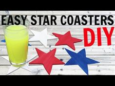 Easy Fourth of July Star Coasters DIY ~ Another Coaster Friday ~ Craft Klatch ~ How To - YouTube