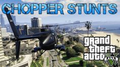 Grand Theft Auto V Challenges | ATTACK CHOPPER STUNTS & GHOST EASTER EGG...