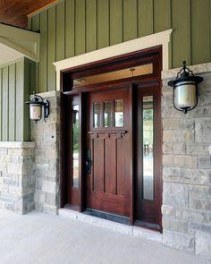 Puertas Larson brillantes se ven las ideas de Ottawa Craftsman Entrada de decoración