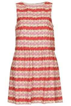 Kiwi Stripe Print Dress