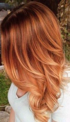 7 Breathtaking Hair Color Trends For 2019 Red Hair copper red hair color Red Balayage Hair, Red Blonde Hair, Strawberry Blonde Hair, Red Hair With Blonde Highlights, Black Hair, Highlights For Red Hair, Copper Balayage Brunette, Warm Red Hair, Red Blonde Ombre
