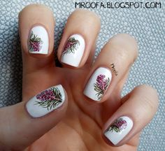 Bird Feather Nails