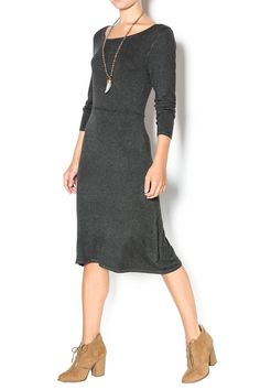 Super soft and comfy, this dress is the dress for the upcoming cold weather! A must have in every girl's closet! On a lazy day, you can just throw this on with tights underneath, and your ready to go, warm and fashionable!   Seamed Sweater Dress by Survival. Clothing - Dresses - Casual Clothing - Dresses - Midi Clothing - Dresses - Sweater Clothing - Sweaters - Sweater Dresses New York