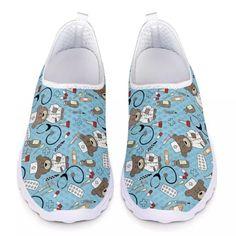 3D CARTOON PRINTED NURSE SHOES   FREE Shipping worldwide   - Dean Mary Nurse Shoes, 3d Cartoon, Comfy Shoes, Slip On Shoes, Snug Fit, Dean, 3 D, Mary, Free Shipping